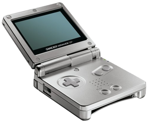Game Boy Advance SP Silver Gameboy Advance SP Console Off the Charts