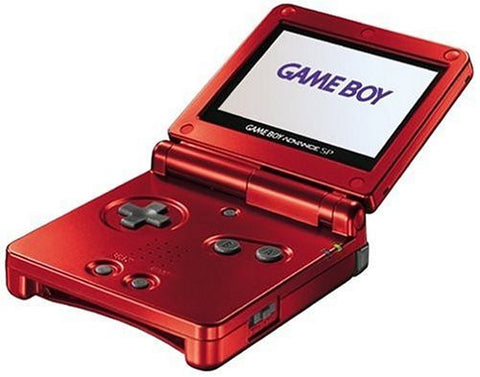 Game Boy Advance SP Console in Flame Red Game Boy Advance Console Off the Charts