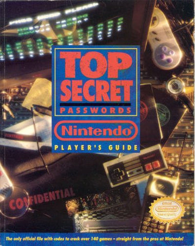 Top Secret Passwords Nintendo Players Guide Nintendo NES Strategy Guide Off the Charts