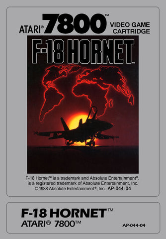 F-18 Hornet Atari 7800 Game Off the Charts