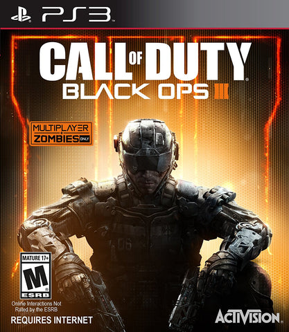 Call of Duty Black Ops III Playstation 3 Game Off the Charts