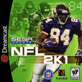 NFL 2K1 Sega Dreamcast Game Off the Charts