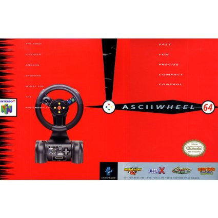 Asciiwheel Nintendo 64 Driving Accessory Nintendo 64 Accessory Off the Charts