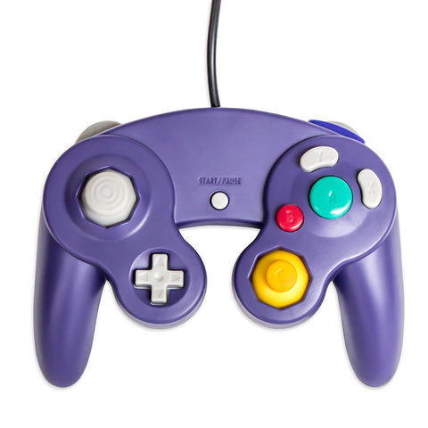 Old Skool GameCube / Wii Compatible Controller - Purple Nintendo Gamecube Accessory Off the Charts