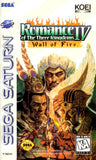 Romance of the Three Kingdoms IV: Wall of Fire Sega Saturn Game Off the Charts
