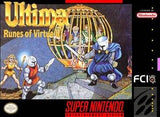 Ultima Runes of Virtue II Super Nintendo Game Off the Charts