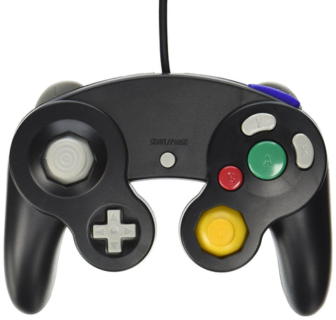 Old Skool Nintendo Gamecube / Wii Compatible Controller - Black Nintendo Gamecube Accessory Off the Charts