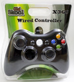 Old Skool Xbox 360 Wired Controller in Black Xbox 360 Accessory Off the Charts