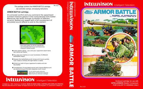 Armor Battle Intellivision Game Off the Charts