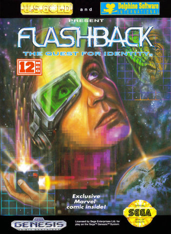 Flashback the Quest for Identity Sega Genesis Game Off the Charts