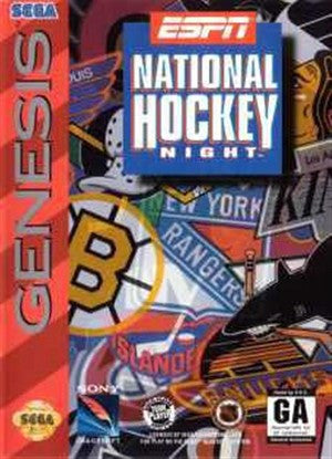 ESPN National Hockey Night Sega Genesis Game Off the Charts