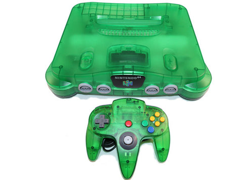 Jungle Green Nintendo 64 System Bundle Nintendo 64 Console Off the Charts