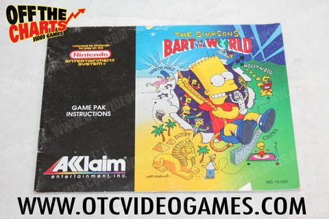 The Simpsons: Bart Vs. The World Manual - Off the Charts Video Games