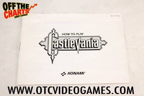 Castlevania Manual Nintendo NES Manual Off the Charts