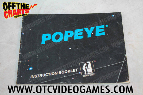 Popeye Manual Nintendo NES Manual Off the Charts