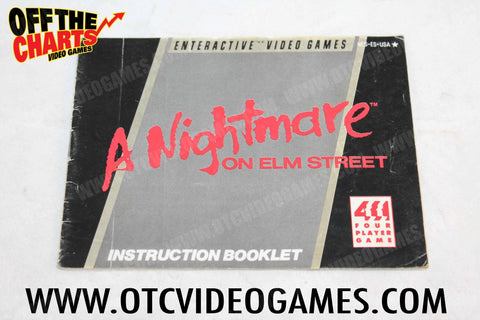 A Nightmare On Elm Street Manual Nintendo NES Manual Off the Charts