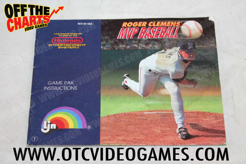 Roger Clemens MVP Baseball Manual - Off the Charts Video Games