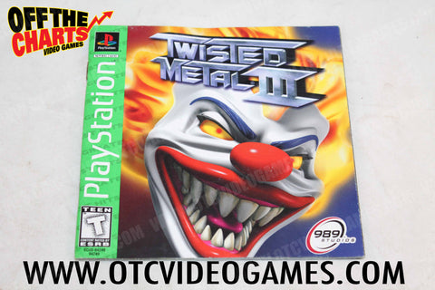 Twisted Metal III Manual - Off the Charts Video Games