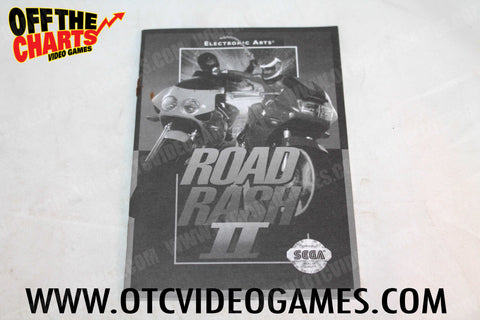 Road Rash II Manual Sega Genesis Manual Off the Charts