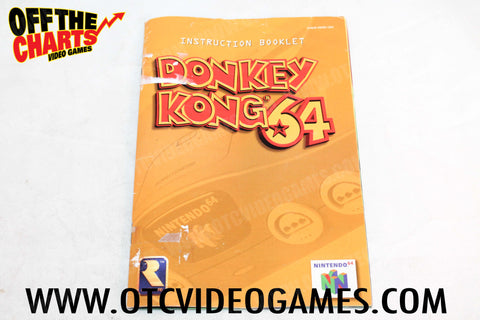 Donkey Kong 64 Manual - Off the Charts Video Games