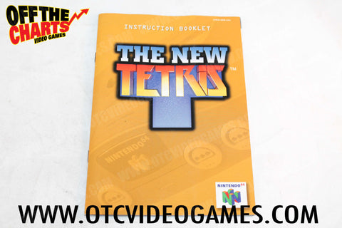 The New Tetris Manual Nintendo 64 Manual Off the Charts