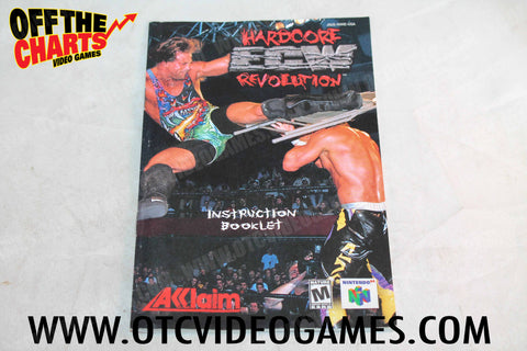 ECW Hardcore Revolution Manual Nintendo 64 Manual Off the Charts