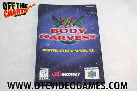 Body Harvest Manual - Off the Charts Video Games