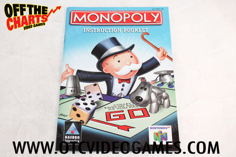 Monopoly Manual - Off the Charts Video Games