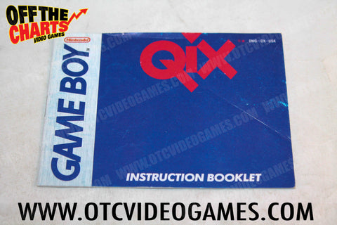 Qix Manual - Off the Charts Video Games