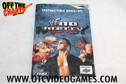 WWF No Mercy Manual - Off the Charts Video Games