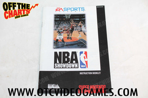 NBA Showdown Manual - Off the Charts Video Games