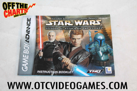 Star Wars Episode II: Attack of the Clones Manual Game Boy Advance Manual Off the Charts