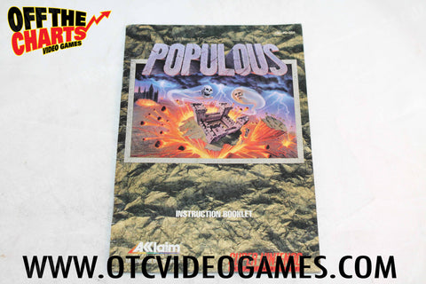 Populous Manual - Off the Charts Video Games