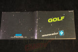 Golf Manual Nintendo NES Manual Off the Charts