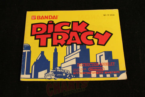 Dick Tracy Manual Nintendo NES Manual Off the Charts