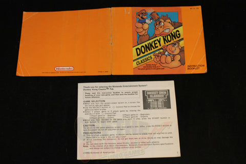 Donkey Kong Classics Manual Nintendo NES Manual Off the Charts