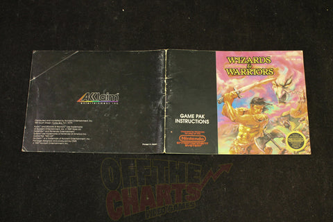 Wizards and Warriors Manual Nintendo NES Manual Off the Charts