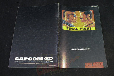 Final Fight Manual Super Nintendo Manual Off the Charts