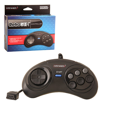 RetroGen Sega Genesis Controller by Retro-Bit - Off the Charts Video Games