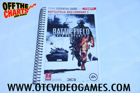 Battlefield Bad Company 2 Prima Essential Guide - Off the Charts Video Games