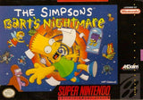 The Simpsons Barts Nightmare Super Nintendo Game Off the Charts