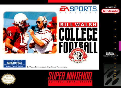 Bill Walsh College Football Super Nintendo Game Off the Charts