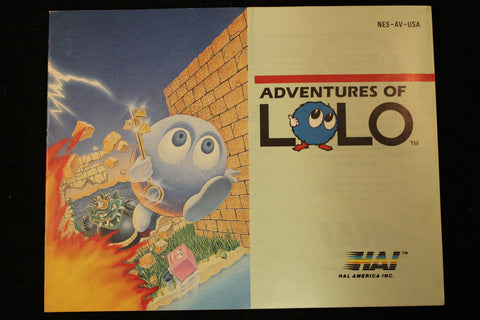 Adventure of LoLo Manual Nintendo NES  Off the Charts