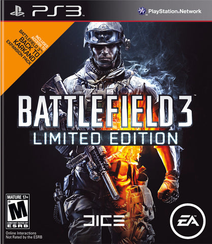 Battlefield 3 Limited Edition Playstation 3 Game Off the Charts