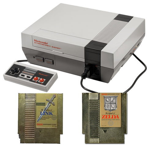 Nintendo NES Zelda Pak with The Legend of Zelda and The Adventure of Link Nintendo NES Console Off the Charts