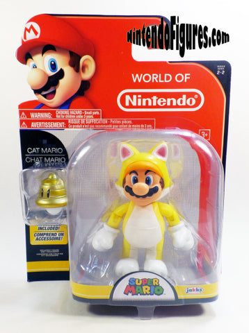 "Cat Mario World of Nintendo 4"" Figure Toys Toys Off the Charts"