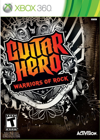 Guitar Hero Warriors of Rock Xbox 360 Game Off the Charts