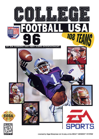 College Football USA '96 Sega Genesis Game Off the Charts