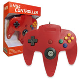 Old Skool Nintendo 64 Controller in Red Nintendo 64 Accessory Off the Charts