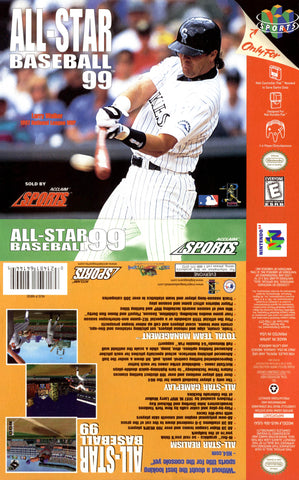 All-Star Baseball '99 Nintendo 64 Game Off the Charts